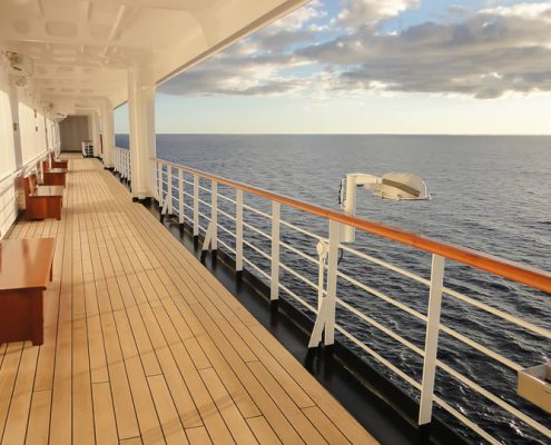 Holland America Line cruise ship deck