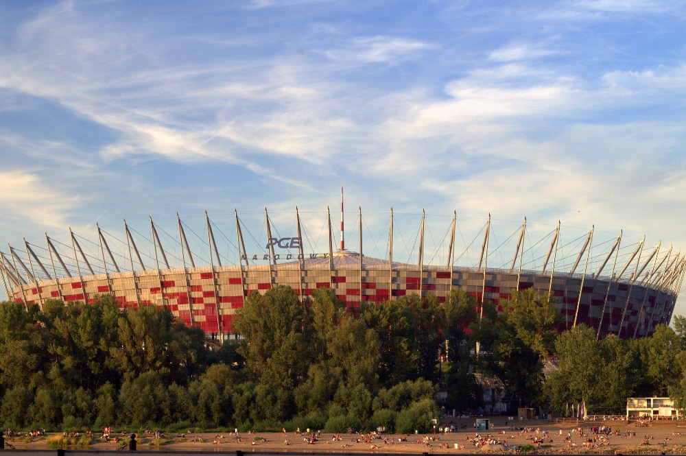 National Stadium in Warsaw Poland