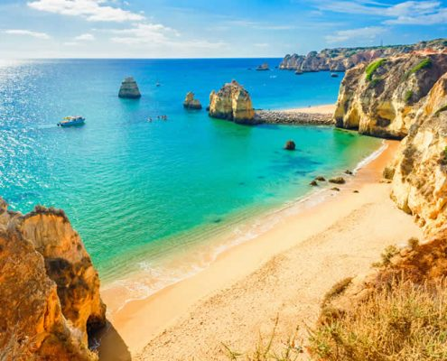 Lagos in Ponta da Piedade Algarve Portugal