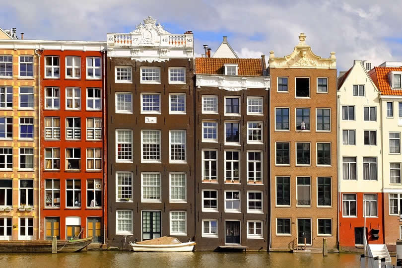 Apartment buildings in Amsterdam