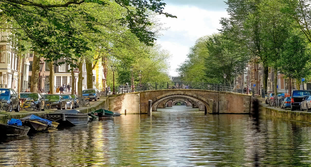 Amsterdam Canals in Holland