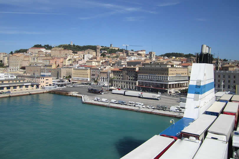 Ancona Ferry and Cruise Port in Italy