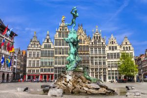 Antwerp Brabo Statue on Grand Market Square