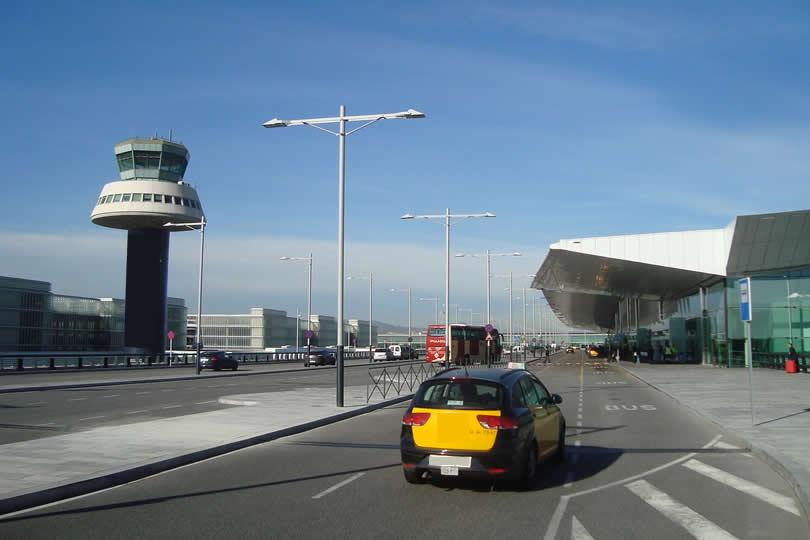 Departure terminal at Barcelona Airport El Prat