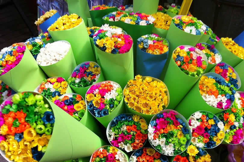 Flowers at market in May Barcelona