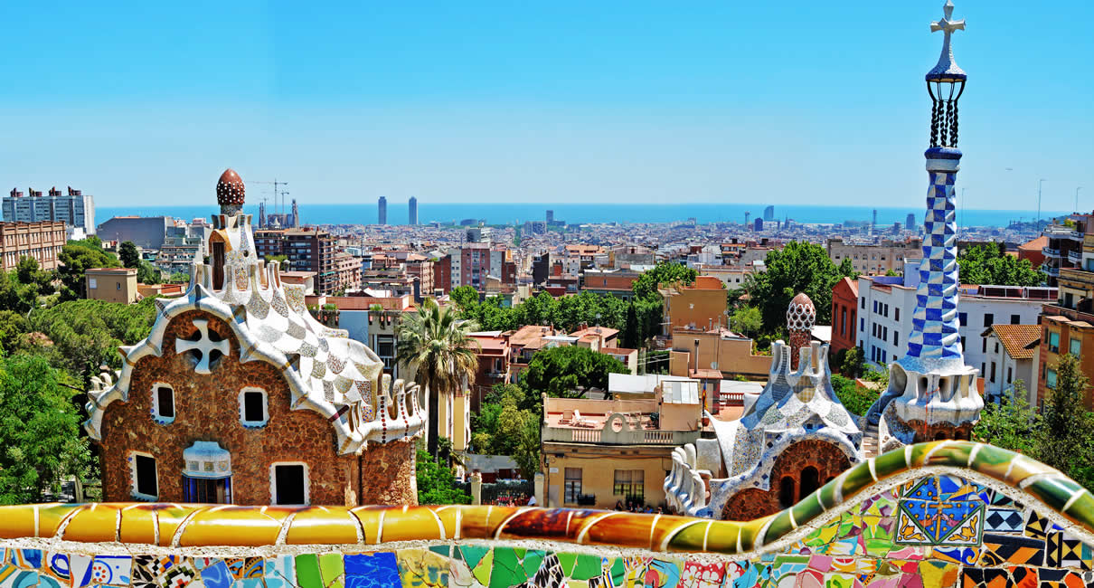 Barcelona Parc Guell in Spain