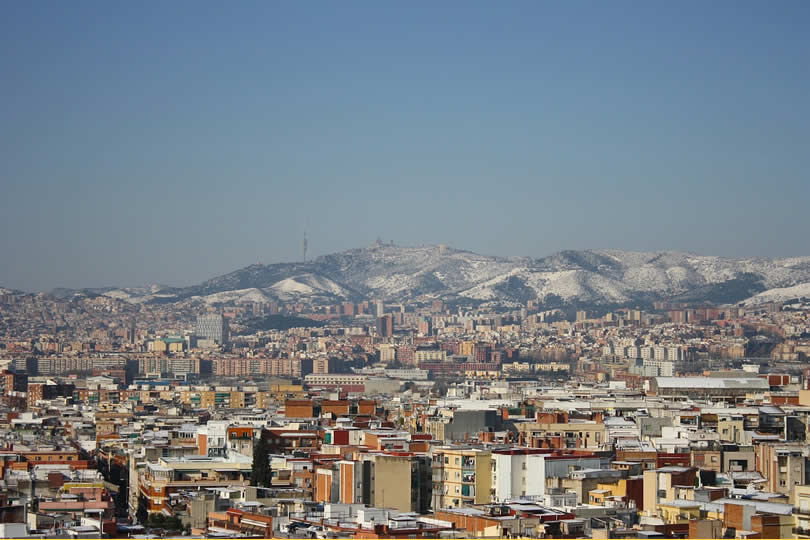 Winter month of January in Barcelona