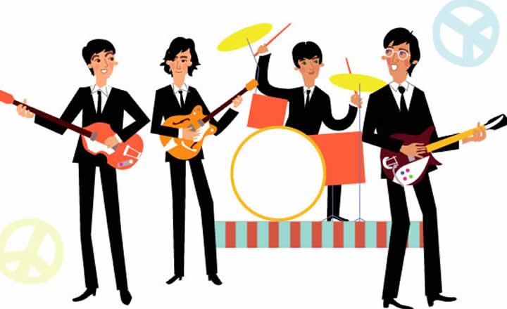 The Beatles illustration