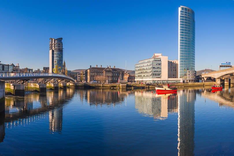 Belfast waterfront in Northern Ireland