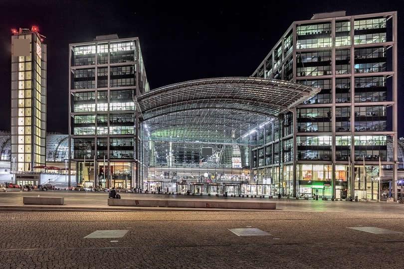 Entrance of Berlin Hauptbahnhof station