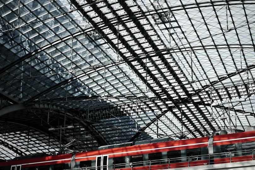 Train at Berlin main train station
