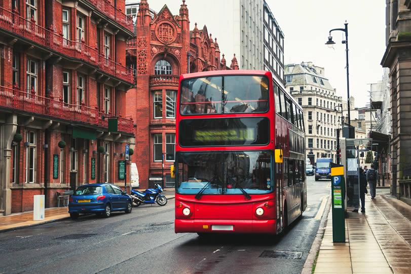 Bus in Birmingham UK