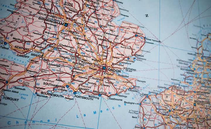 Birmingham London Map