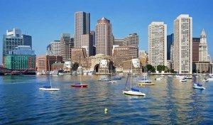 Boston downtown USA