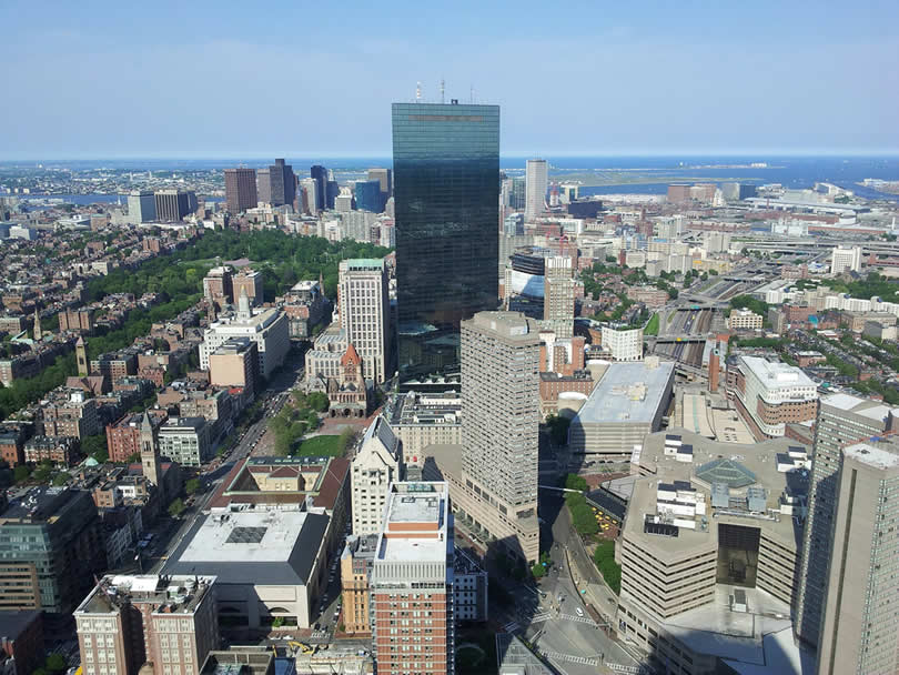 Boston Downtown from Air