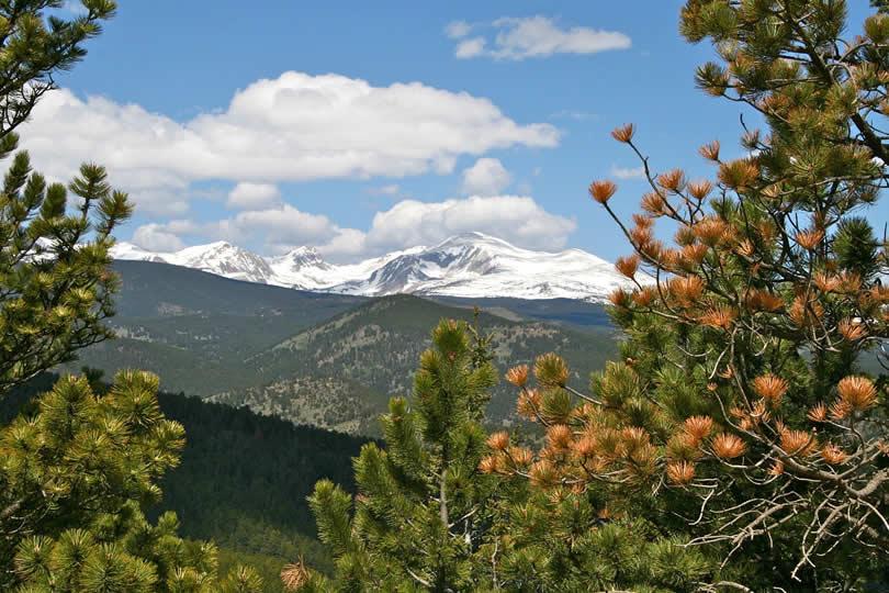 Mountains in Boulder Colorado