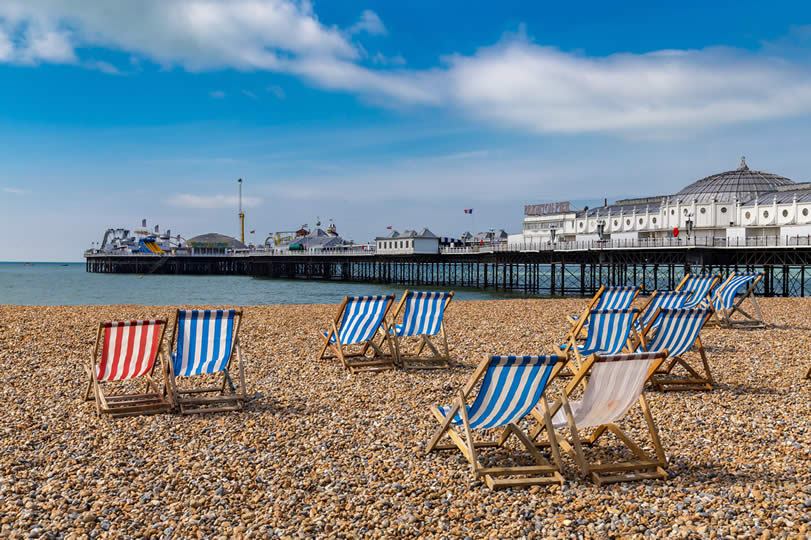 Brighton Beach in England