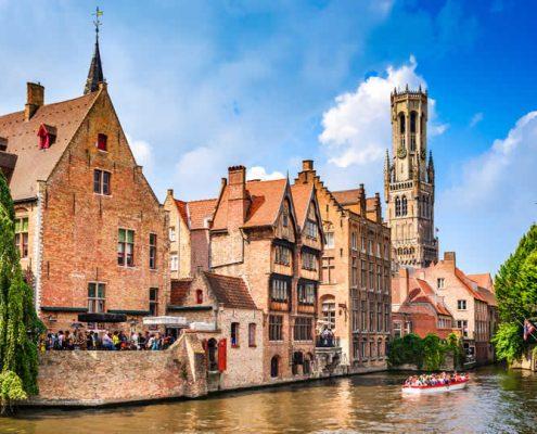 Bruges canal and Belfort