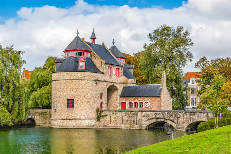 Bruges Ezelpoort or Donkey Gate