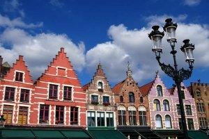 Bruges Grand Market Square restaurants and cafes