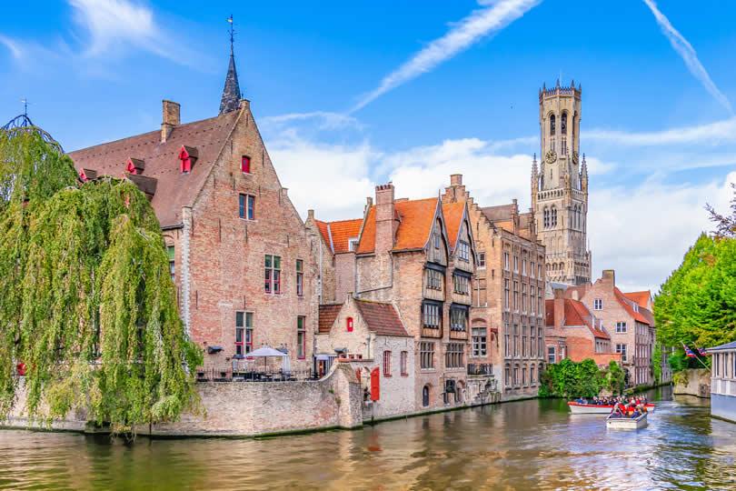Bruges Rozenhoedkaai Boats