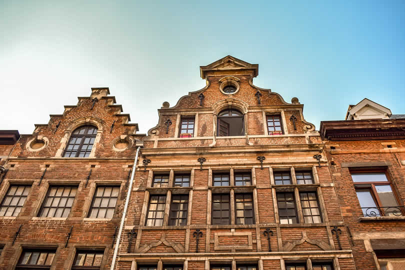 Apartment buildings in Brussels