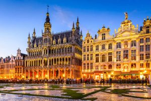 Brussels Grand Place in evening