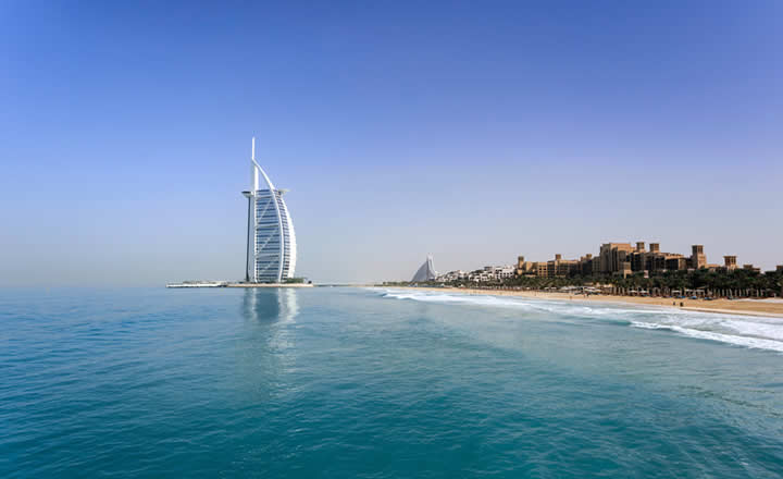 Burj Al Arab and beaches