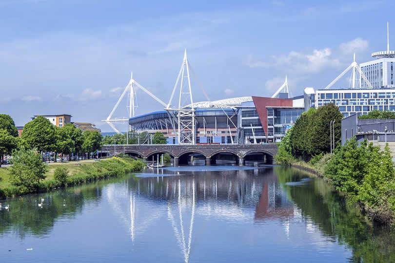 Cardiff stadium in Wales