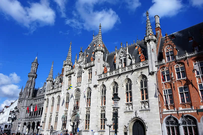 Bruges City Hall on Main Market Square