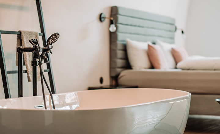 Luxury hotel room with bath for couples