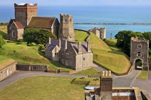 Dover Castle and ferry port