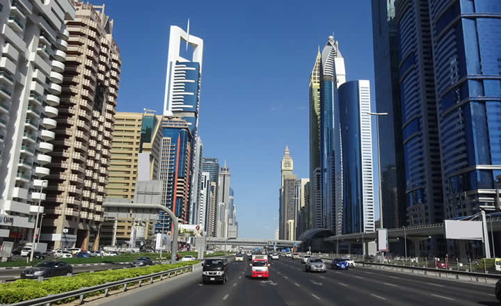 Downtown dubai highway