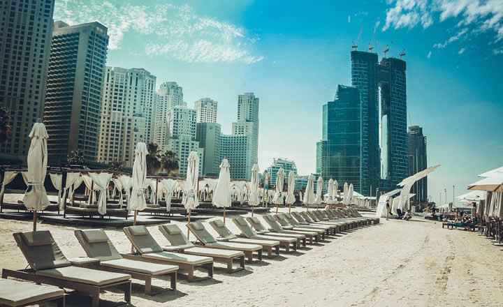 Dubai beach chairs