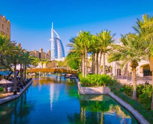 Dubai Burj Al Arab hotel and surroundings