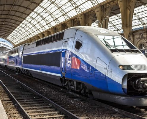 TGV high speed train in station France