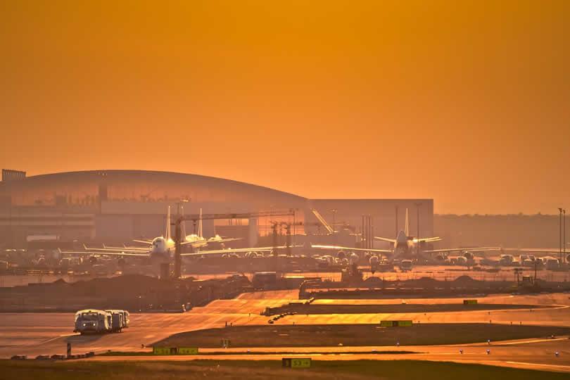 Frankfurt International Airport planes