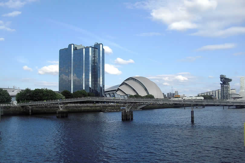 SEC and hotel in Glasgow