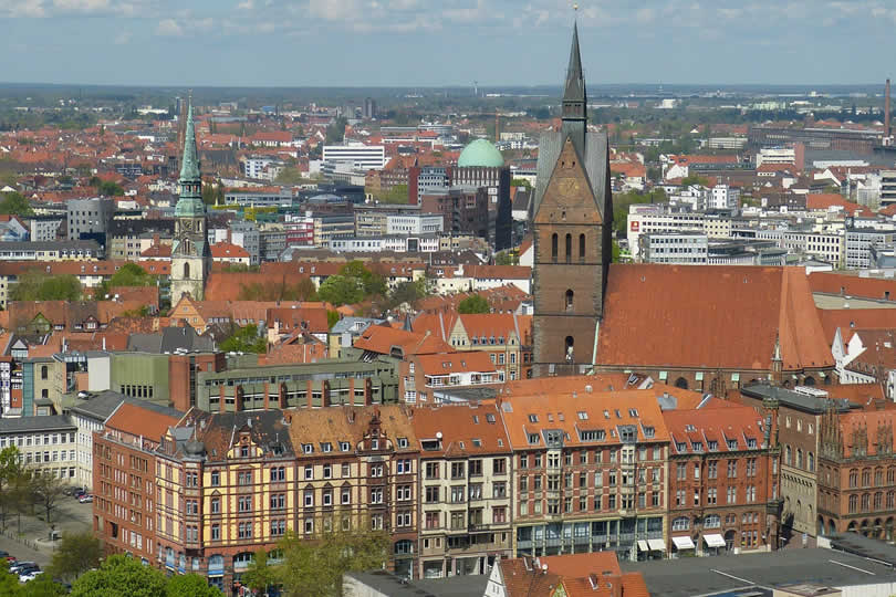 Hannover city centre in Germany