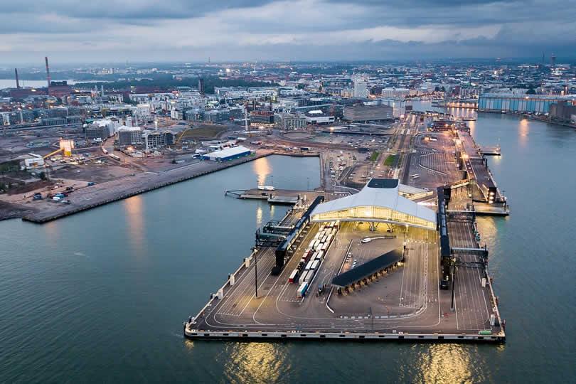 Helsinki ferry port terminal