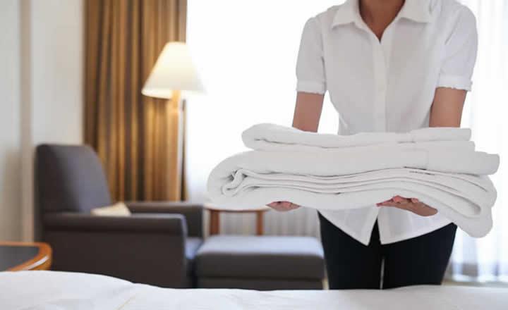 Luxury hotel room service