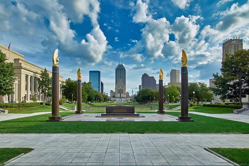 Indianapolis Memorial in Downtown area