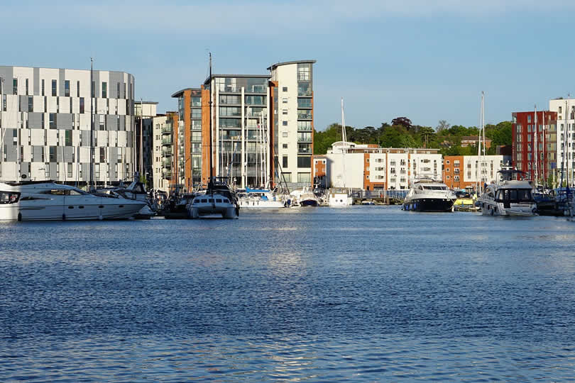 Harbour and marina in Ipswich