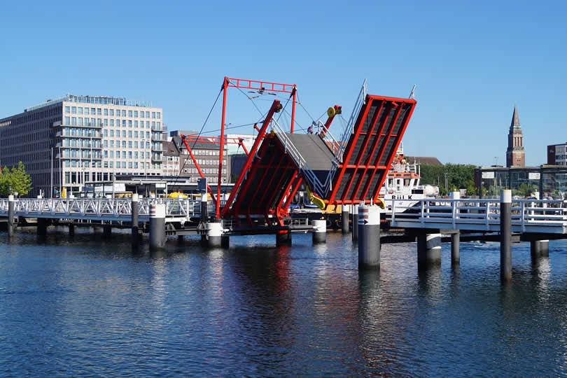 Kiel city centre in Germany