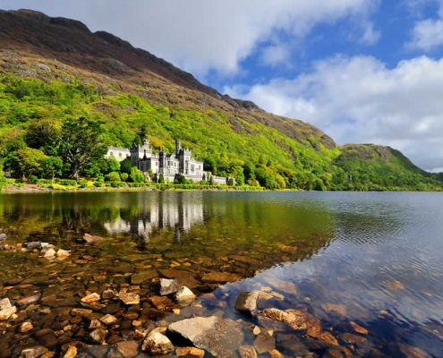 Kylemore Abbey in County Galway Ireland