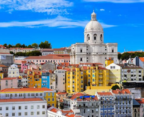 Lisbon city centre skyline