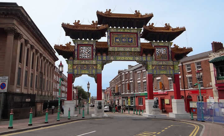 Liverpool Chinese Quarter or Chinatown