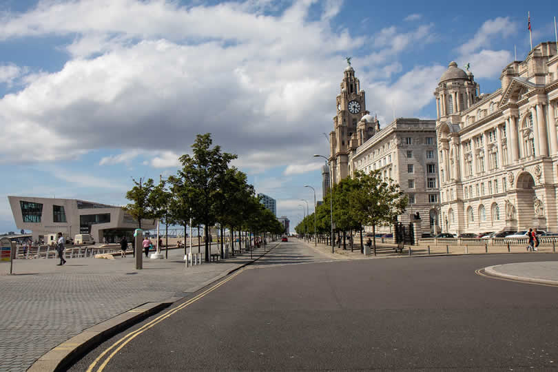 Ferry port terminal in Liverpool
