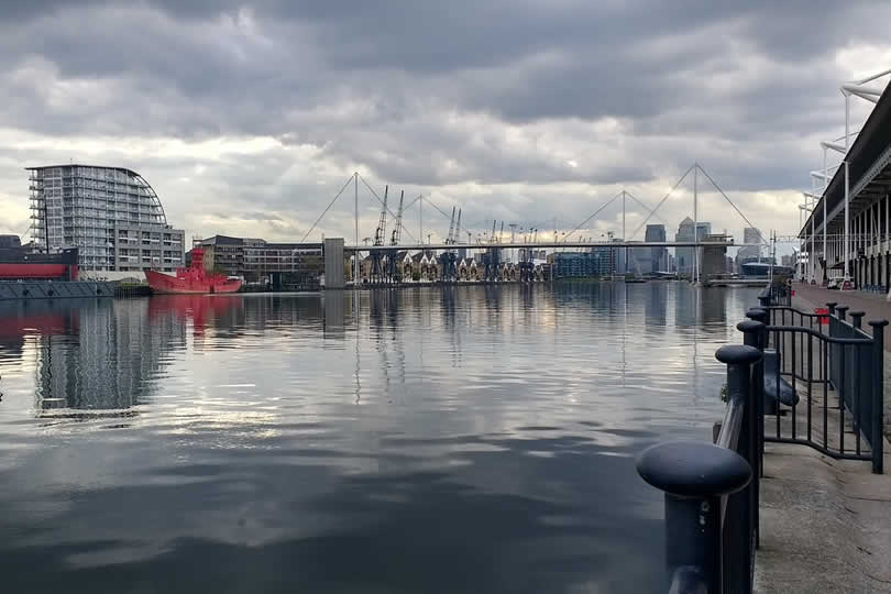 London Docklands near ExCel centre