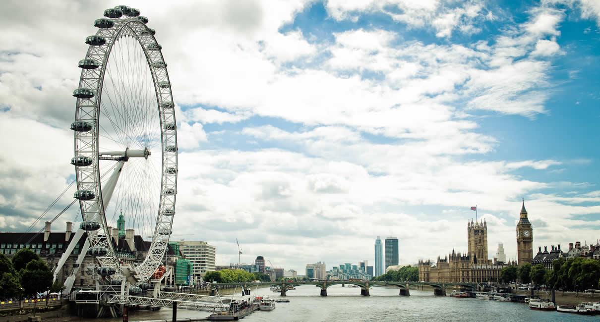 London Eye and Thames River